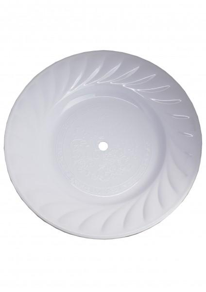 Kohleteller - Extra Groß 40cm - Weiß