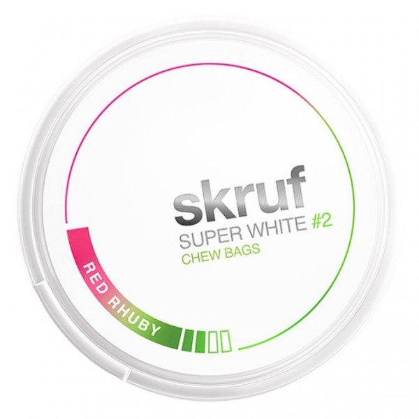 Skruf - Superwhite Red Rhuby Slim - Dose