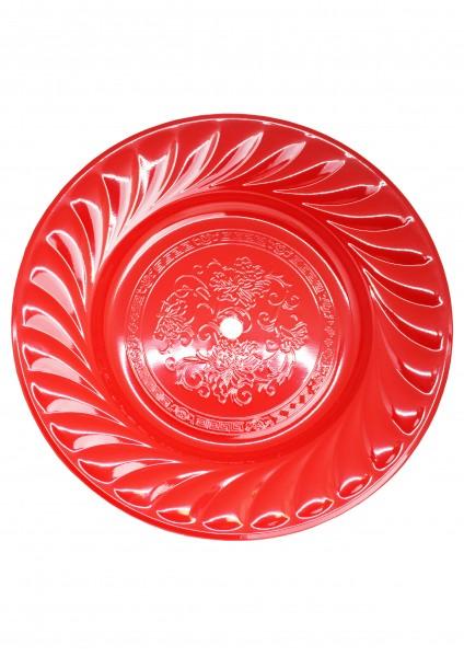 Kohleteller - Extra Groß 40cm - Rot