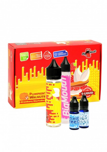 Big Mouth Liquid - Pumpkin' Walnuts : Strawberry Shortcake - 50ml/0mg