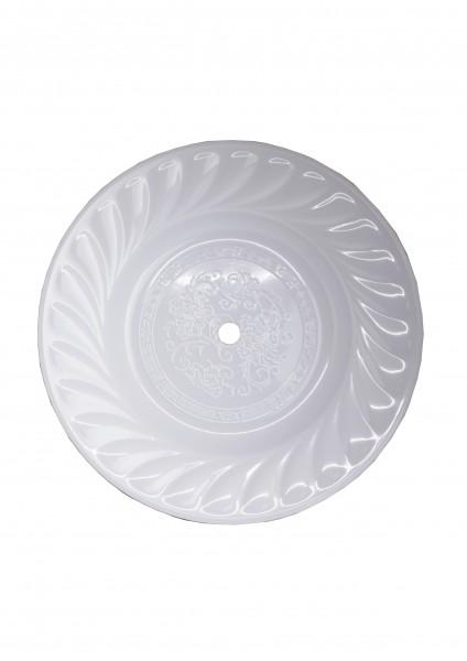 Kohleteller - Groß 35cm - Weiß