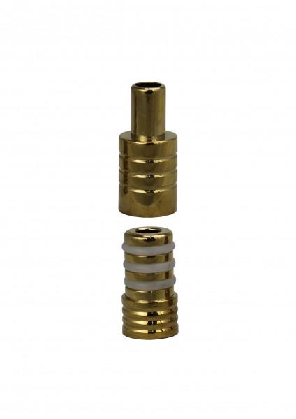 Plug In Adapter - Dschinni - Schlauchadapter- Gold