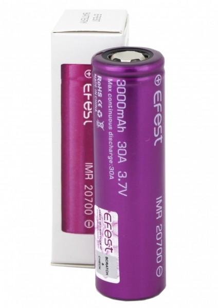 Efest Akku - 20700 - 3,6-3,7 Volt 3000mAh Li-Ion