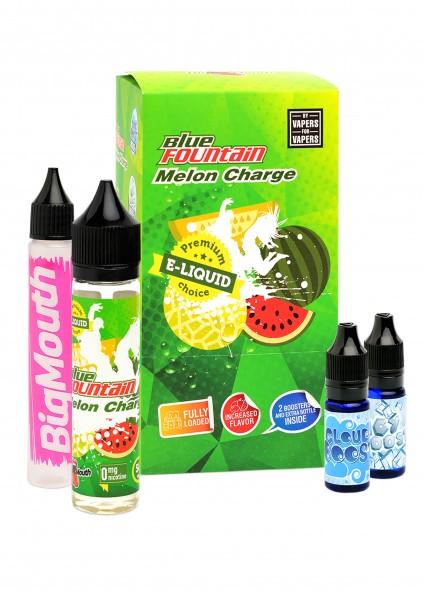Big Mouth Liquid - Blue Fountain : Melon Charge - 50ml/0mg