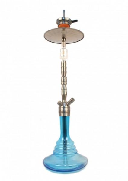 Caesar Shisha - Q&D 003 - Stainless Steel / Shining Light Blue